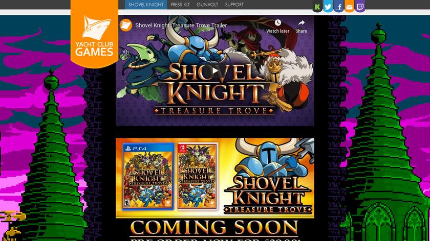 Shovel Knight Landing Page
