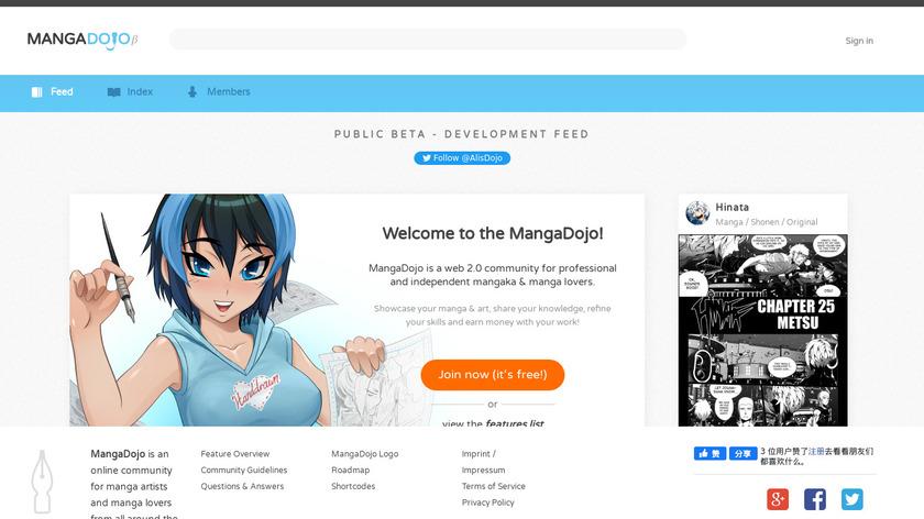 MangaDojo Landing Page