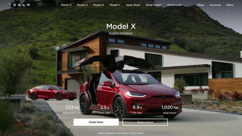 Tesla Model X Landing Page