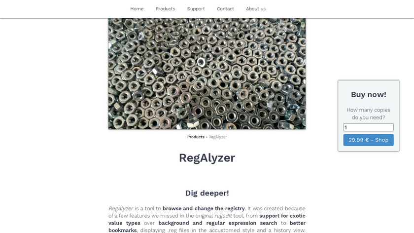 RegAlyzer Landing Page