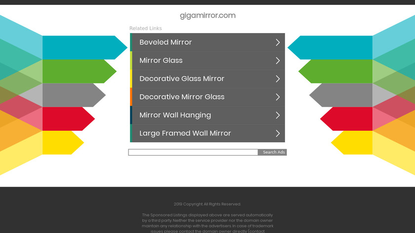 GigaMirror Landing Page