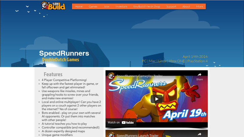 SpeedRunners Landing Page