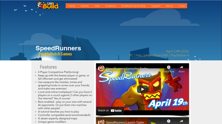 SpeedRunners Landing Page
