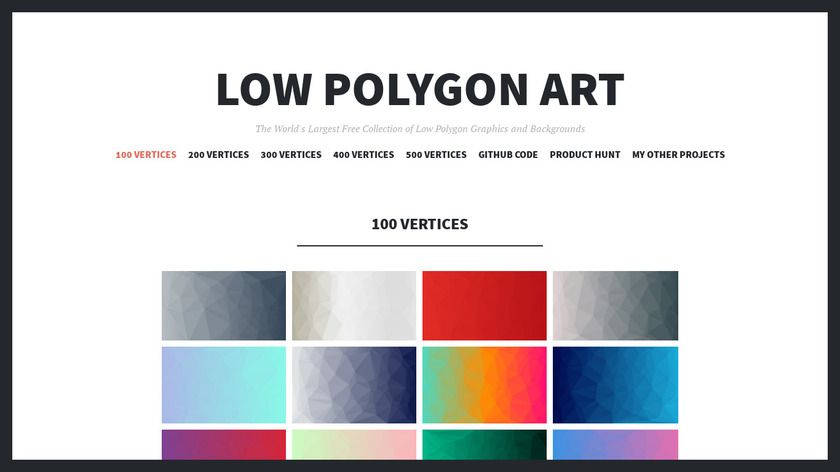 Low Poly Art Landing Page