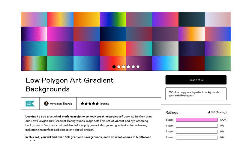 Low Poly Art Landing Page
