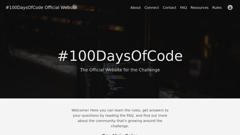 100 Days of Code Landing Page
