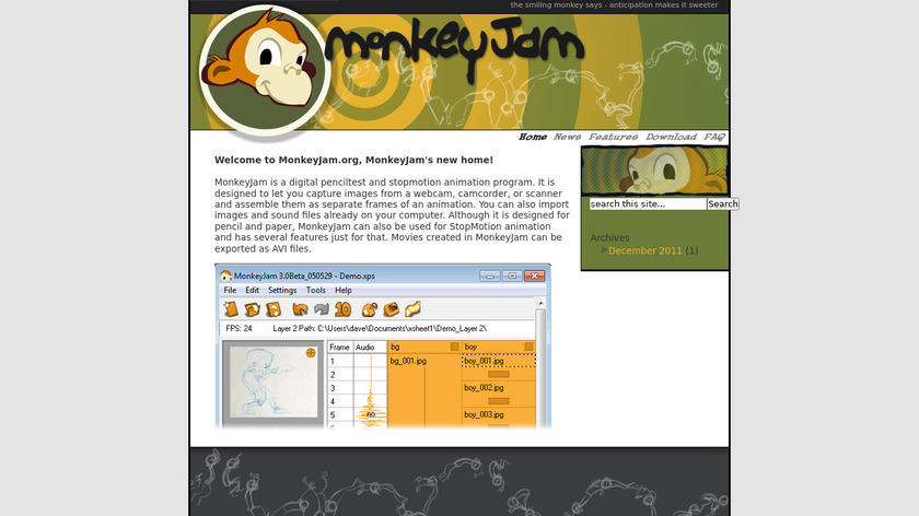 MonkeyJam Landing Page