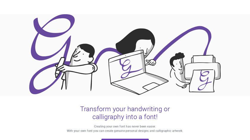My Script Font Landing Page