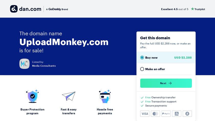 UploadMonkey Landing Page