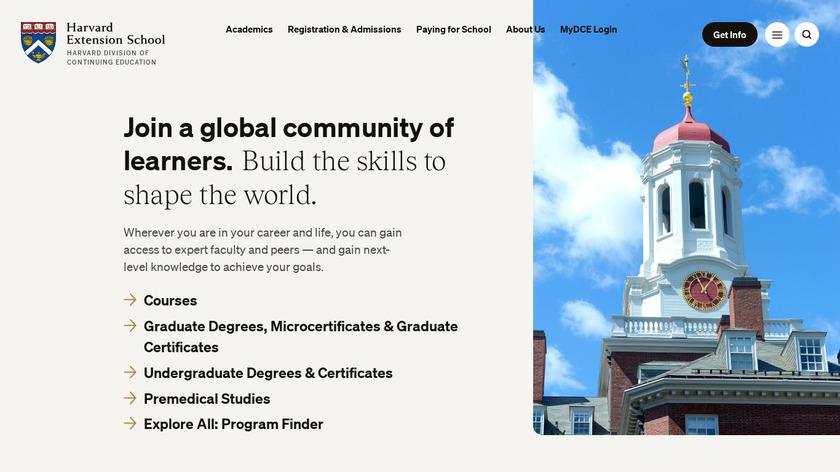 Harvard Open Courses Landing Page
