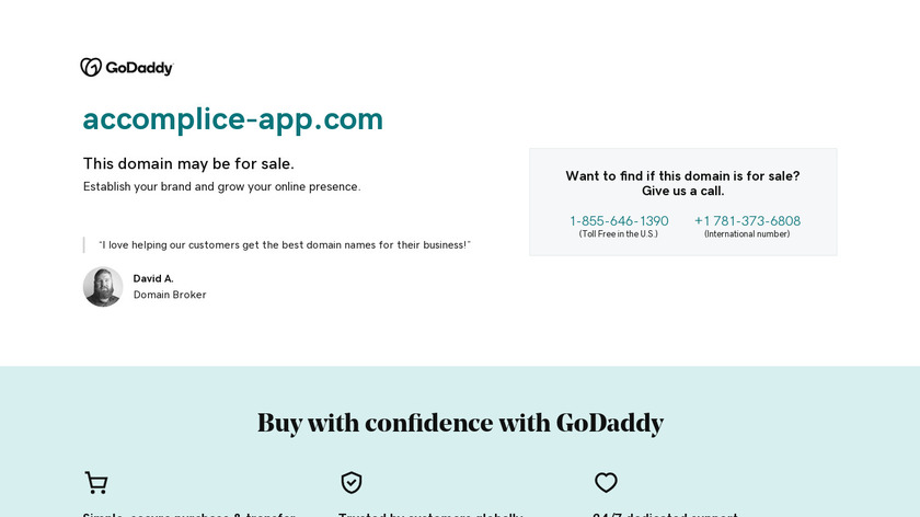 Accomplice Landing Page
