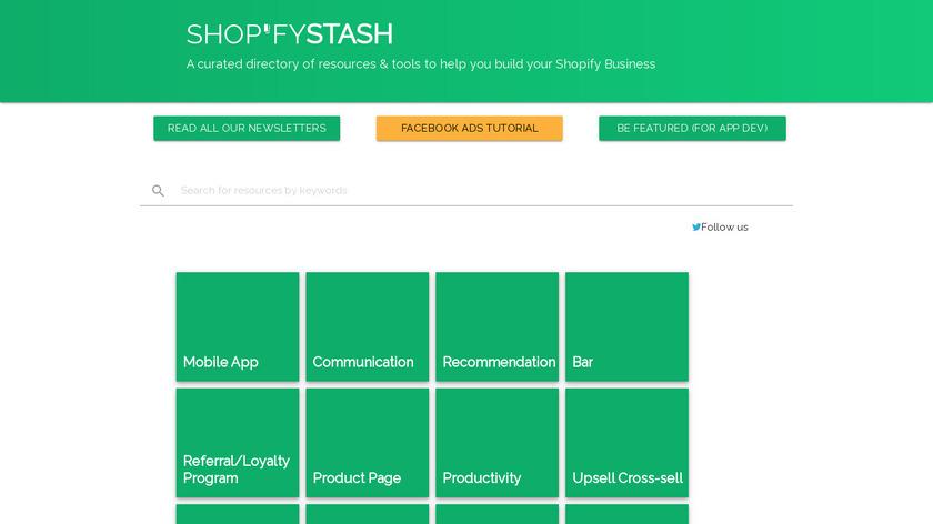 Shop'fy Stash Landing Page