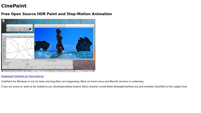 CinePaint Landing Page