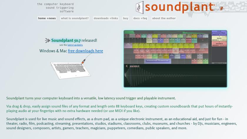 Soundplant Landing Page