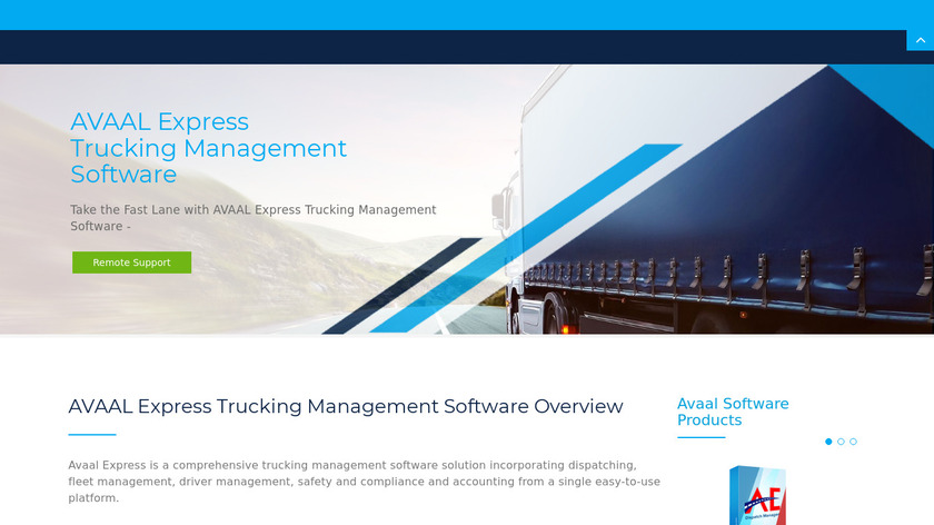 Avaal Express Landing Page