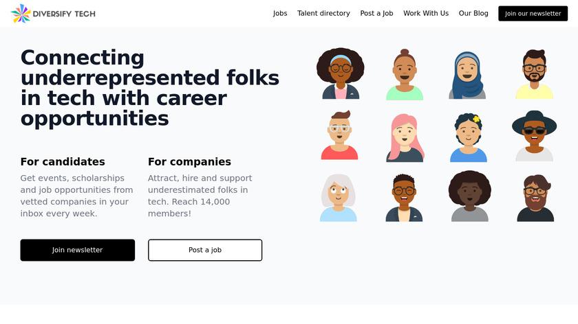 Diversify Tech Landing Page