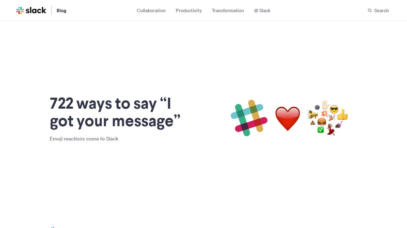Slack Emoji Reactions Landing Page