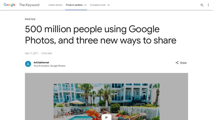 New Google Photos Landing Page