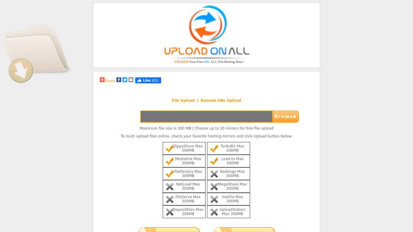 UploadOnAll Landing Page