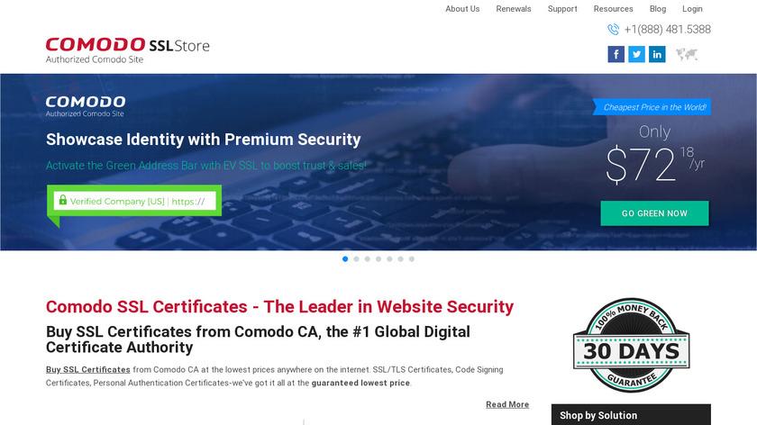 ComodoSSLstore Landing Page