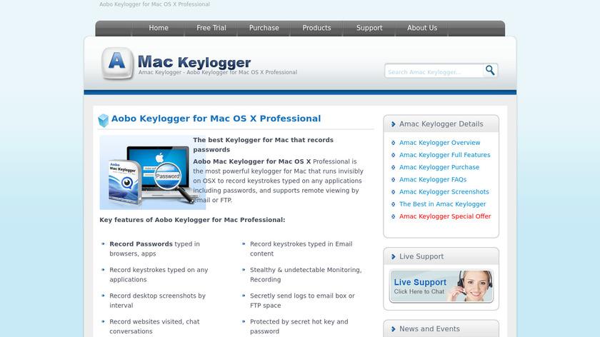 Aobo Keylogger Landing Page