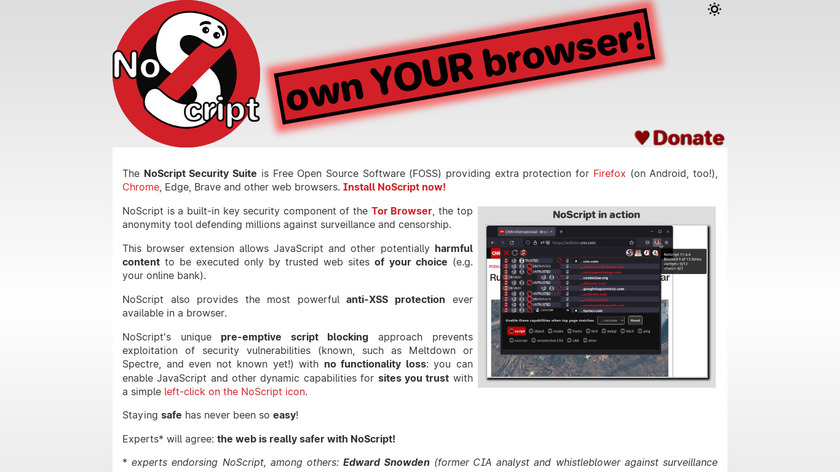 NoScript Landing Page