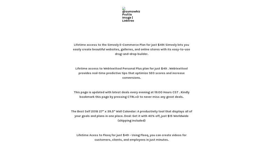 Cyber Monday Linkbox Landing Page