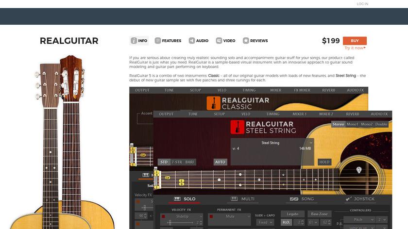 Realguitar Landing Page