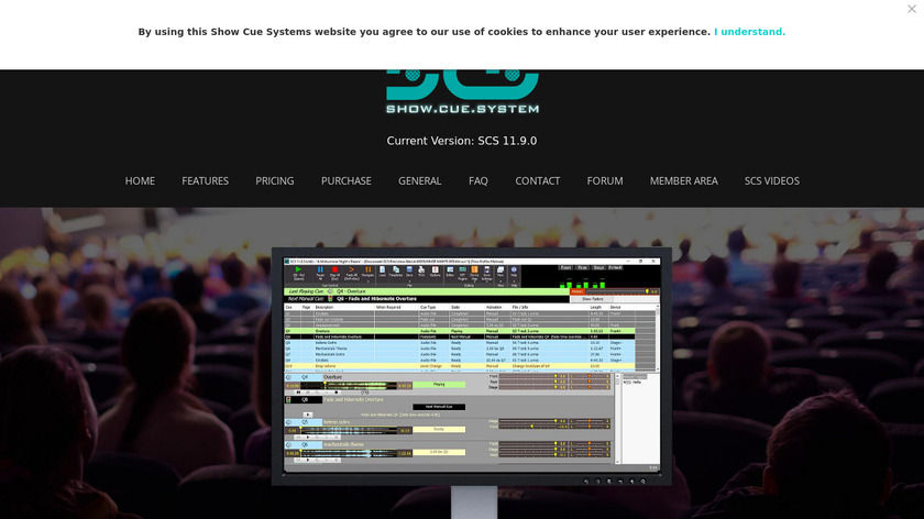 Show Cue System Landing Page
