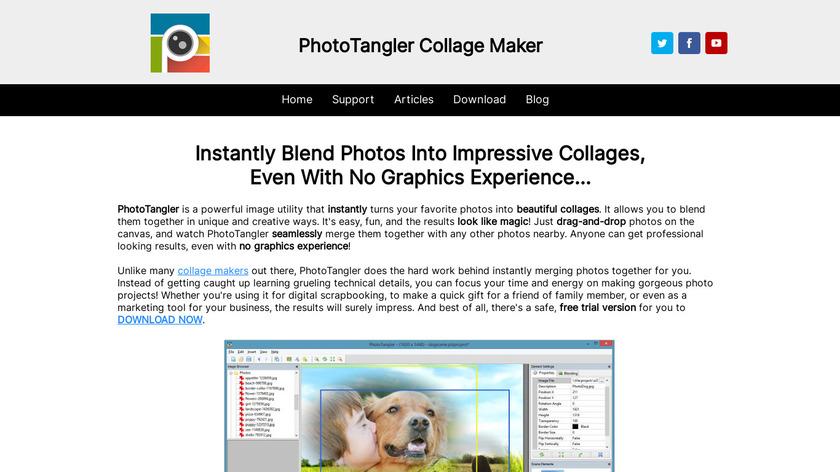PhotoTangler Collage Maker Landing Page