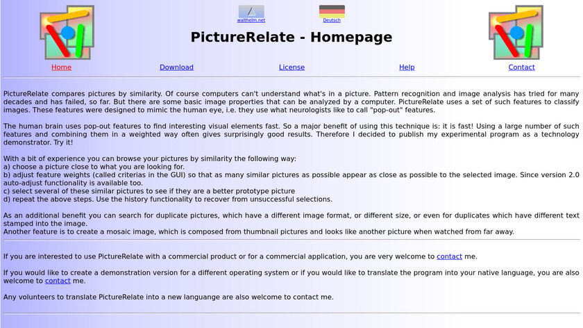 Picture Relate Landing Page