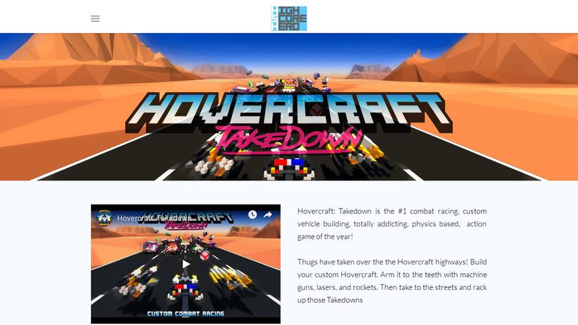 Hovercraft: Takedown Landing Page