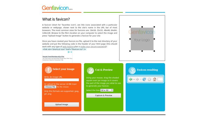 GenFavicon Landing Page