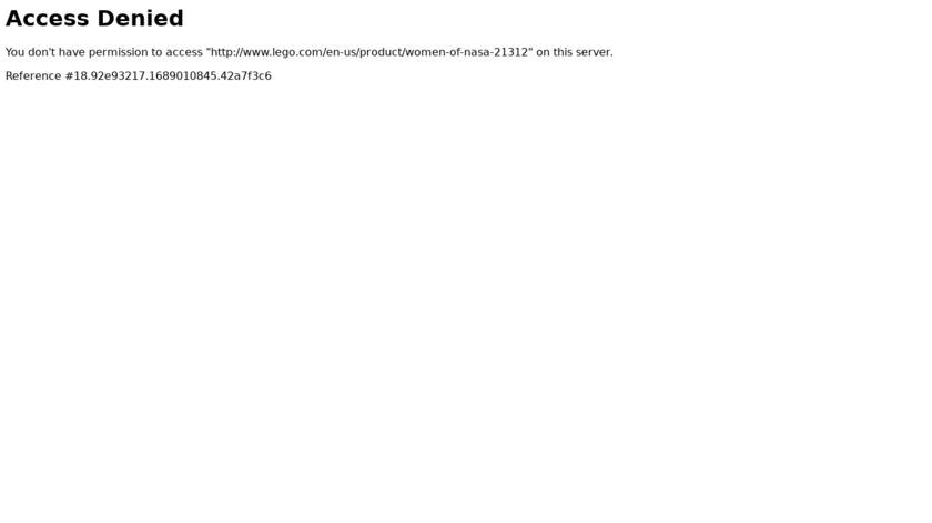 LEGO Women of NASA Landing Page