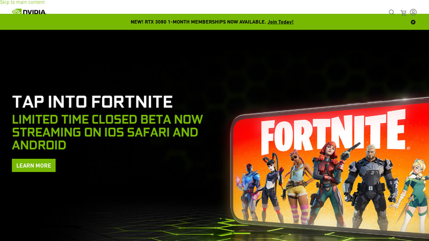 Geforce Now Landing Page