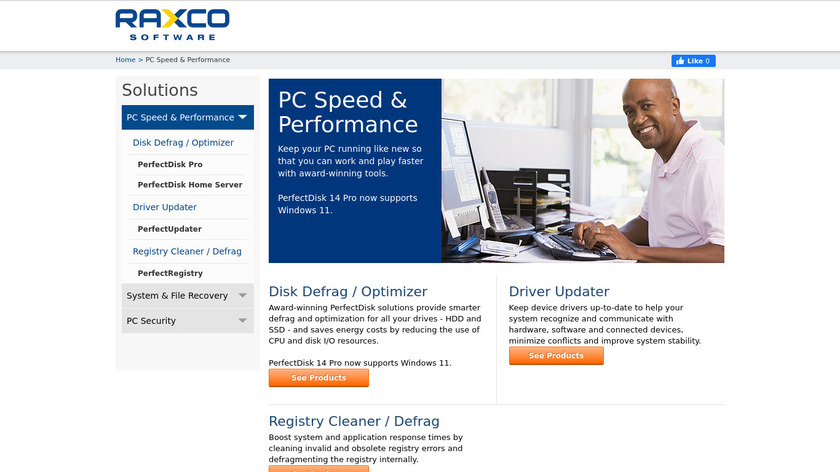PerfectSpeed PC Optimizer Landing Page