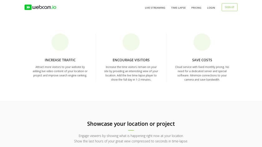 webcam.io Landing Page