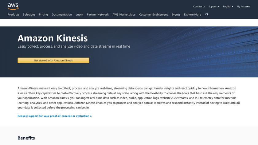 Amazon Kinesis Landing Page