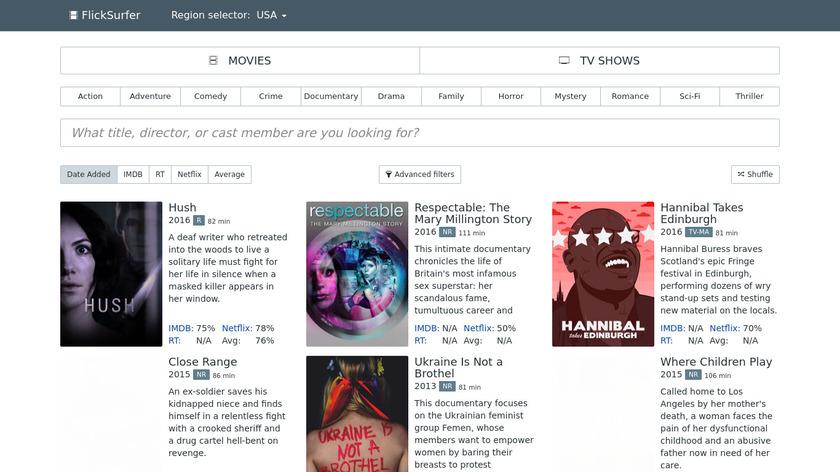 FlickSurfer Landing Page