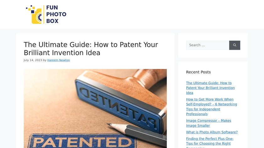 Fun Photo Box Landing Page