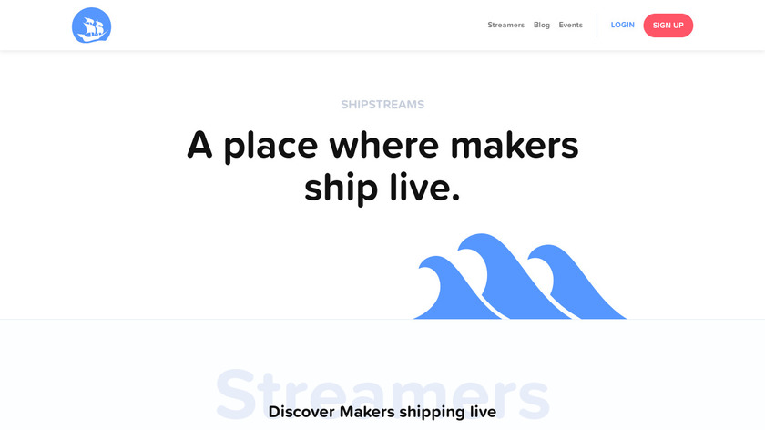 Shipstreams Landing Page