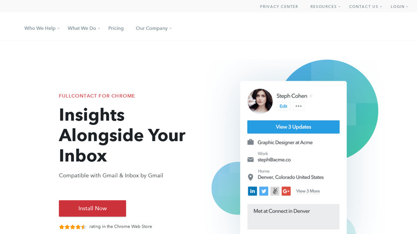 FullContact for Gmail Landing Page