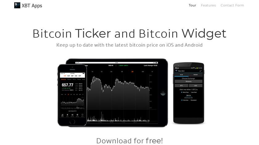 Bitcoin Ticker Landing Page