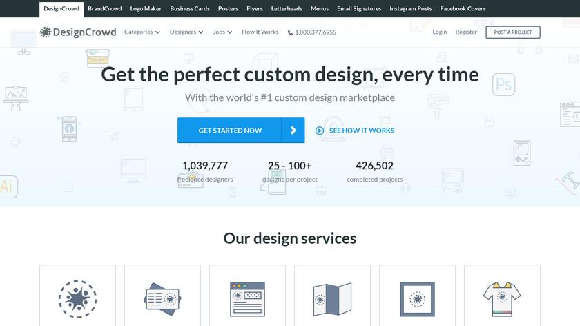 DesignCrowd Landing Page