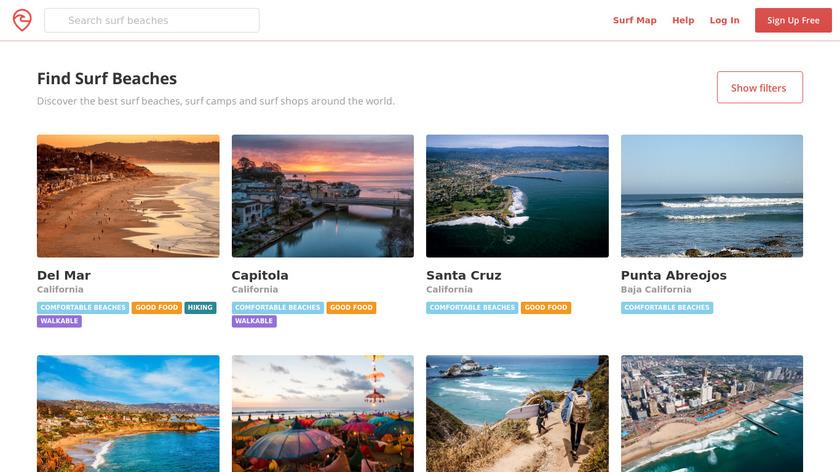 Surf Trip List Landing Page