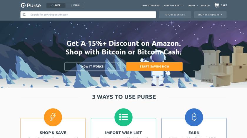 Purse.io Landing Page