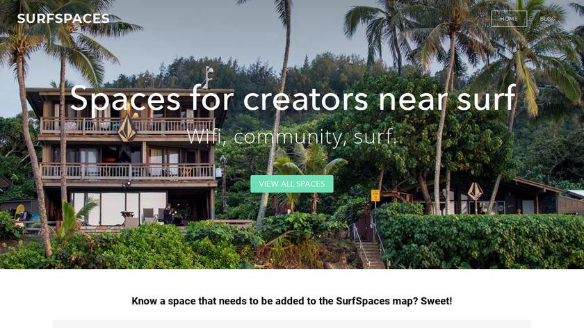 SurfSpaces Landing Page