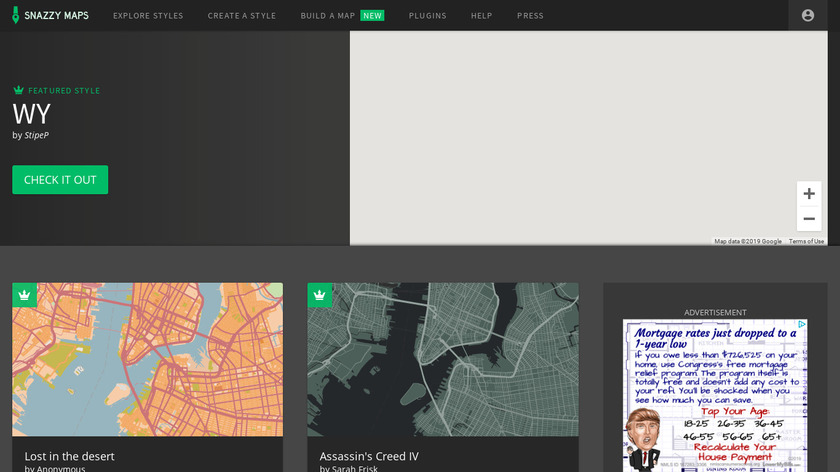 Snazzy Maps Landing Page