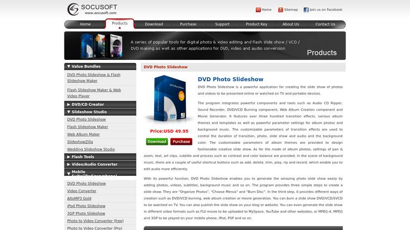 DVD Photo Slideshow Landing Page