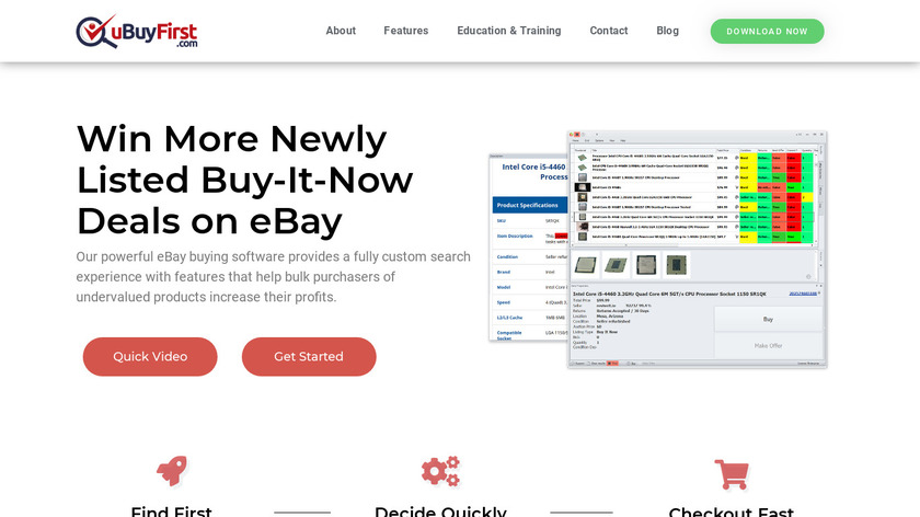 uBuyFirst Landing Page